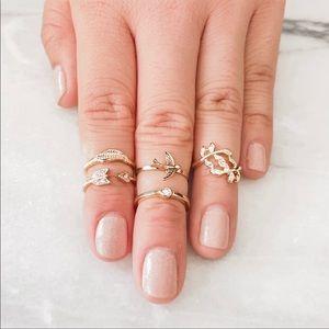 Gold Midi Ring Pack